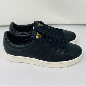 NEW**CONVERSE**Black Leather Sneakers US 10**$95